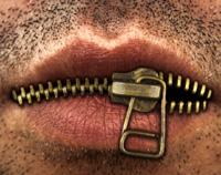 keep one's mouth shut